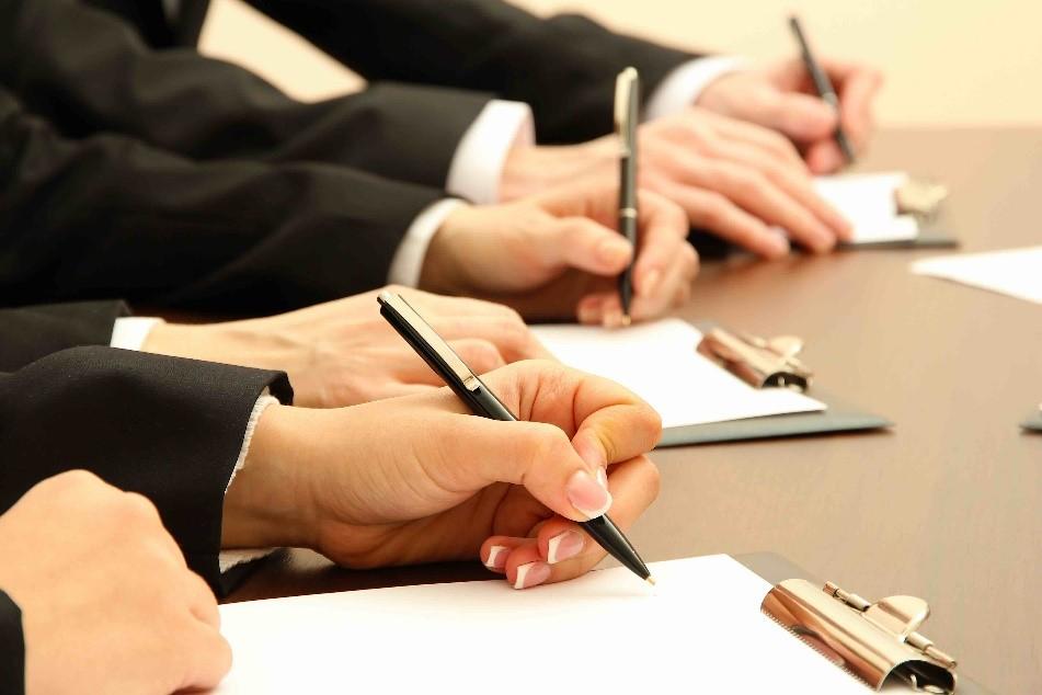 совещание, руки, письмо